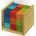 Klodser i kasse, farvede - 27 stk.