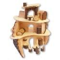 Dukkehus - med dele med bark