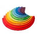 Halvcirkel, stor regnbuefarver