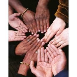 Blank notesbog - One World - Hands