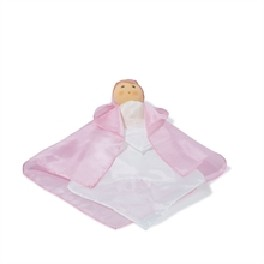 Dukke - den første silkedukke- pink/hvid