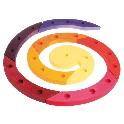 Fødselsdagslysestage spiral, rødlig