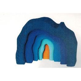 Hule, 5-delt - blå