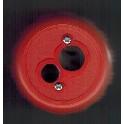 Blyantspidser RØD - med 2 huller