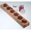 Farveglasholder af træ -til 100 ml. glas
