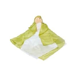 Dukke - den første silkedukke- grøn/hvid