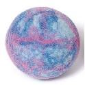 Uld-bold, filtet - lyseblå meleret