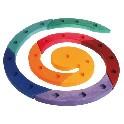 Fødselsdagslysestage spiral, flerfarvet