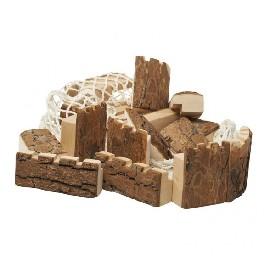 Ridderborg i træ med bark i 16 dele