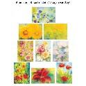 Blomster - 9 kort (større end postkort)