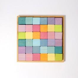 Klodser, pastel mosaik - 36 stk