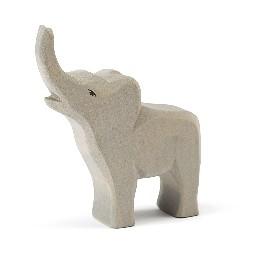 Elefant, lille, trompeterende