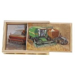 Træpuslespil - landbrugsmaskiner