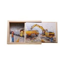 Træpuslespil - vejmaskiner