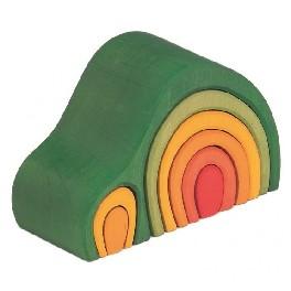 Bue-hus, 8-delt - grøn