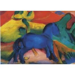 Kunsttryk - Blå hest