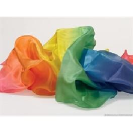 Silke 53 x 53 cm - regnbue farver