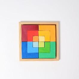 Puslespil, firkantet - kreativt/rumligt