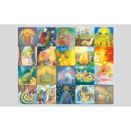 Årstidskort - 20 stk. diverse kunstnere