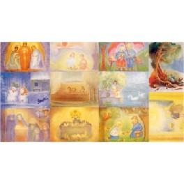 Billed-kunstkort - 11 kort med kuverter