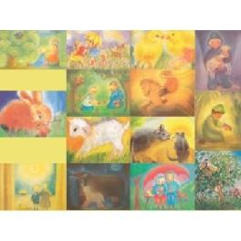 Dyre-kunstkort - 14 stk